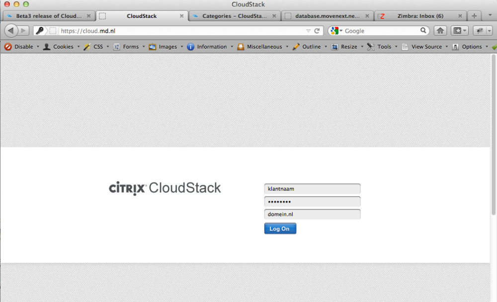 CloudStack from an end-user's point of view (1/6)