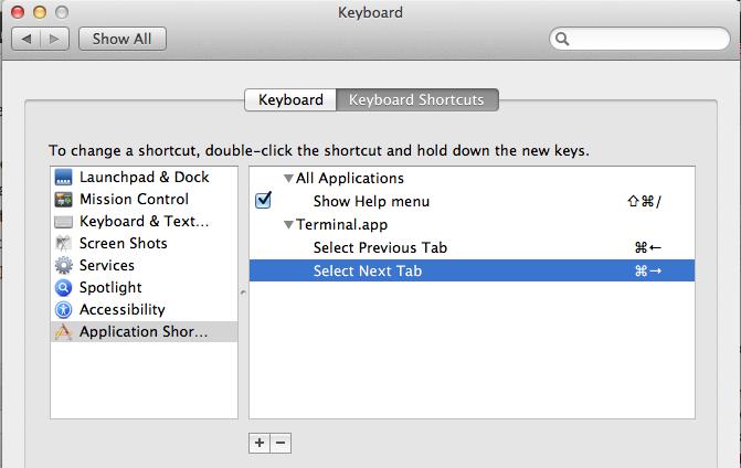Overriding default keyboard shortcuts in Mac OSX (Mountain Lion