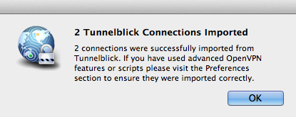 OpenVPN on Mountain Lion: Tunnelblick alternative Viscosity to the rescue?