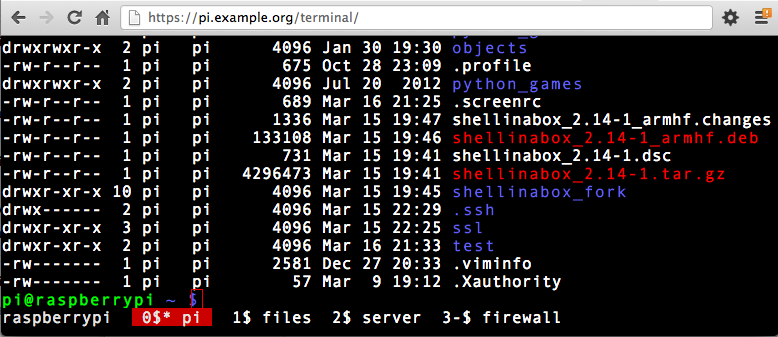 Building an always available Linux terminal: Shell-In-A-Box on Raspberry Pi (2/2)