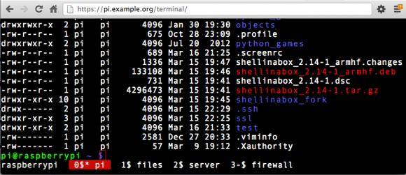 Using GNU Screen in a browser