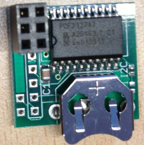 This is how the RasClock GPIO module looks like