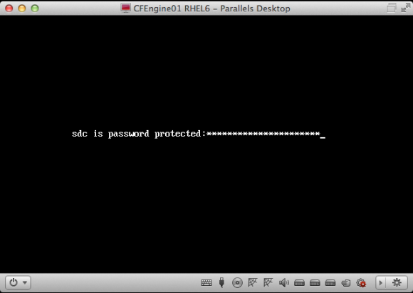 RHEL 6 asks for the LUKS passphrase of /dev/sdc during boot