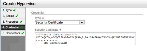 Setting authentication to use a security certificate (and provide one manually)